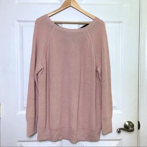 Halogen Sweaters - NWT Halogen Pink Cross Back Pullover Sweater 2X
